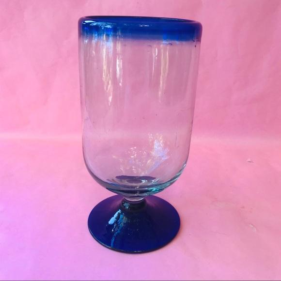 Vintage Other - Vintage thick glass candle/napkins holder